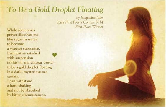 To Be a Gold Droplet Floating