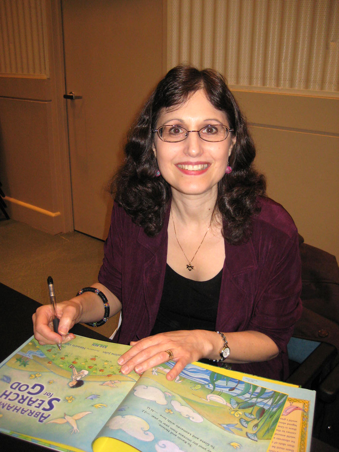 Jacqueline Jules at book signing